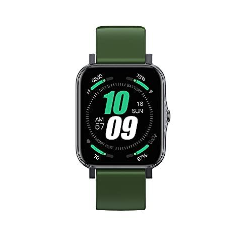 YLB Intelligente Uhr für Frauen Männer 1,7-Zoll-Touchscreen Smartwatch Fitness-Tracker mit Herzfrequenz-Monitor-Schrittzähler Schritt-Zähler mit Blut-Sauerstoffsättigung und 5ATM wasserdichte Musik (F
