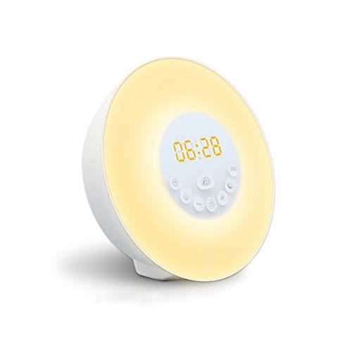 Lichtwecker GLIME Wecker LED Wake up Light Wecker Licht Bunte Nachtlicht FM Radio Berühren Sonnenaufgang Sonnenuntergang 6 Sounds 10 Helligkeit Snooze Mode USB Kinder Zimmer …