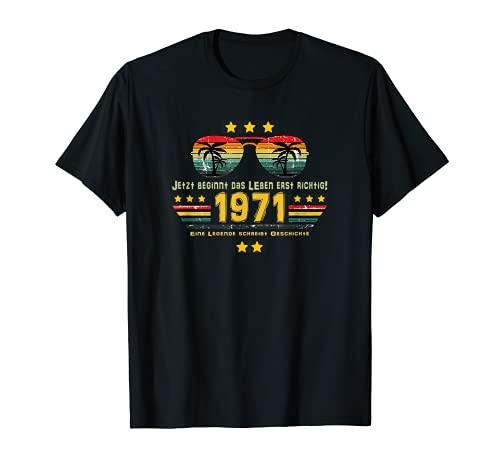 50. Geburtstag 50 Jahre Ehrentag Outfit 1971 Birthday T-Shirt