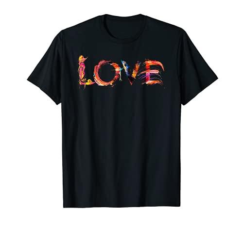 LOVE Liebe Schrift Kunst Kalligrafie Buchstabe Designer T-Shirt
