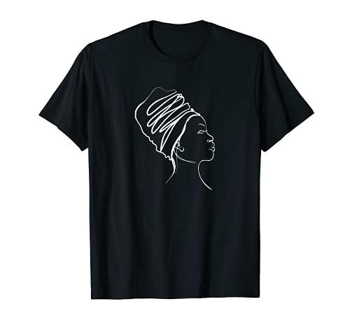 One Line Design Körper einer Frau Afrika Body of a woman T-Shirt