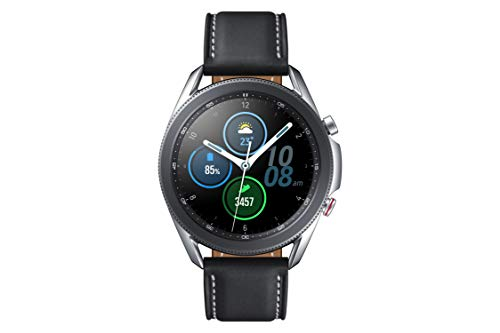 Samsung Galaxy Watch3 Smartwatch 45 mm I LTE I Smartwatch Farbe Silber I Stahl [Spanish Version]