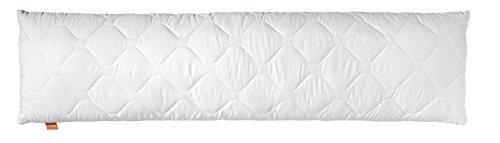 sleepling 190109 Seitenschläferkissen Stillkissen Bodypillow | 100% softe Mikrofaser | Reißverschluss | 1.200 Gramm Füllgewicht mit Füllmengengarantie | 60 Grad | Ökotex | 40 x 145 cm, weiß