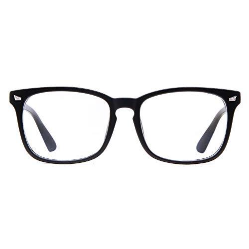 Cyxus Blaulichtfilter Brille, Brille 0hne Stärke, Computer Gaming Brille 【Gesamtbreite: 141mm】UV Schutzbrille gegen Kopfschmerzen, Augenmüdigkeit
