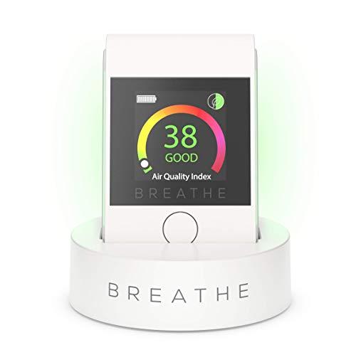BREATHE|Smart 2 Luftqualitäts Messgerät. Luftqualitätsmonitor, misst die Luftqualität im Außen- und Innenbereich. Überwacht Staub, Rauch und PM 2.5 Luftverschmutzung.