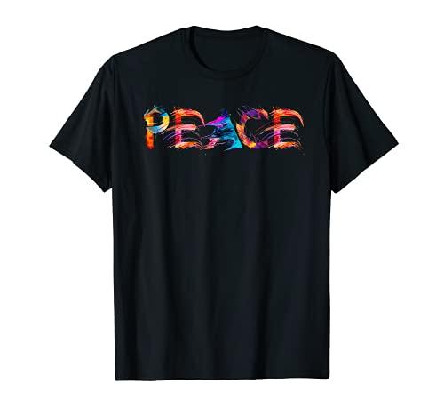 PEACE Design Frieden | Tolle Schrift Kunst Kalligrafie T-Shirt