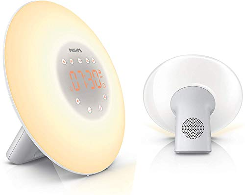 Philips Wake-up Light, Aufwachen mit Licht, 2 natürlichen Wecktöne HF3505/01