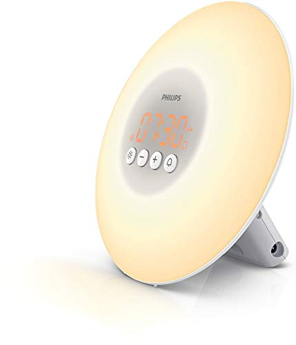 Philips Wake-up Light HF3500/01 (LED, Aufwachen mit Licht, 10 Helligkeitseinstellungen) weiß
