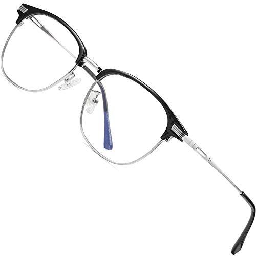 ATTCL Unisex blaulichtfilter brille computerbrille zum Blockieren von UV-Kopfschmerz [Verringerung der Augenbelastung] Gaming Brille,(Herren/Damen) 5054-Gray