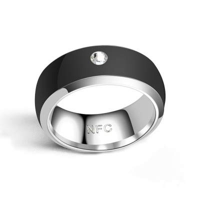 LZW Smart-Ring NFC Ring Motiv Ring Intelligente Ringe Für Männer Motiv Ring Fitness Ring Aura Ring Schlaf-Tracker Intelligenten Ring Ring Echoschleife,Schwarz,11