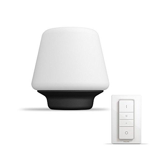 Philips Hue LED Tischleuchte Wellness inkl. Dimmschalter, dimmbar, alle Weißschattierungen, steuerbar via App, weiß, kompatibel mit Amazon Alexa (Echo, Echo Dot)