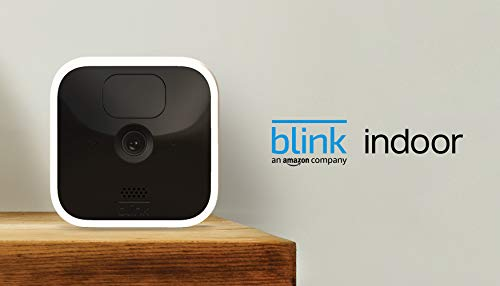Blink Indoor – kabellose HD-Sicherheitskamera mit zwei Jahren Batterielaufzeit, Bewegungserfassung und Zwei-Wege-Audio   System mit einer Kamera