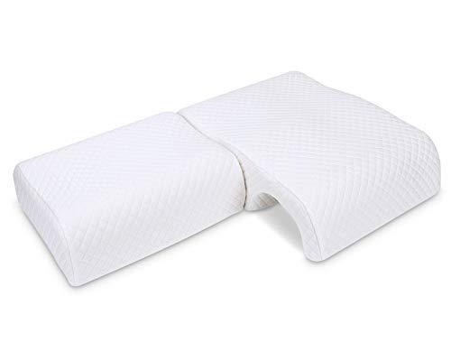 LITSPOT Memory Foam Kissen Zum Schlafen, Paarkissen, Armkissen, Atmungsaktives Gewölbtes Kuschelkissen, Slow Rebound-Druckkissen Für Armlehnen-Lordosenstütze