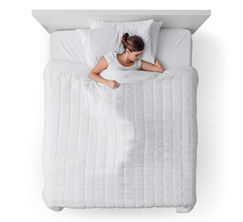 DayCare Gewichtsdecke/Therapiedecke 135x200cm passt auf jeden Standardbezug für einen intensiveren & erholsameren Schlaf - atmungsaktiv & ÖkoTex Zertifiziert - beugt Schlafstörungen vor/6Kg