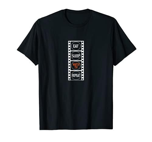 Eat Sleep Watch TV Repeat Outfit zum Streamen Streaming T-Shirt