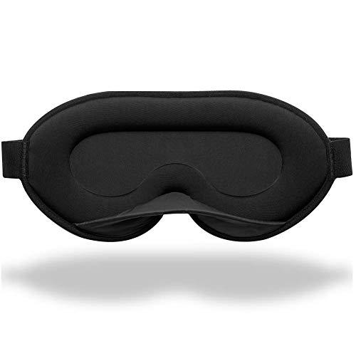 Unimi 2020 Neu Schlafmaske für Frauen und Männer, 3D Schlafmaske aus Gedächtnisschaum & Seiden, 3D konturierte Augenmaske, blockiert jedes Licht zu100%, Schlafmaske für Reisen, Nickerchen, Yoga
