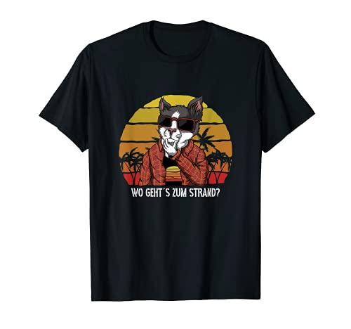 Wo geht´s zum Strand? Ferien Urlaub Meer Outfit T-Shirt
