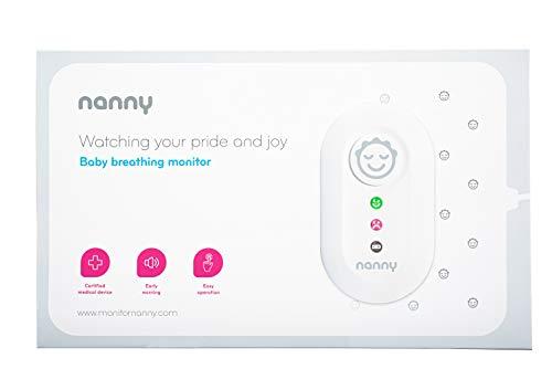 JABLOTRON™ Nanny Monitor BM-02 Babyphone - Atmungsüberwachungsgerät/Atmungs Monitor für Babys mit 2x Sensormatten – Überwachen Sie die Atmung Ihres Kindes – Hergestellt in der EU