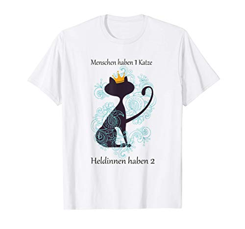 Katzen T-Shirt für die moderne Heldin T-Shirt