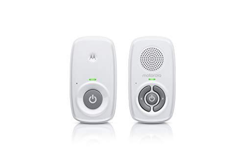 Motorola Baby MBP21 Babyphone Audio - Digitales Babyfon mit DECT-Technologie zur Audio-Überwachung - 300 Meter Reichweite - Mikrofon mit hoher Empfindlichkeit – Weiß