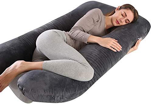 Wndy's Dream Schwangerschaftskissen Stillkissen Premium XXL U-förmiges Schwangerschaftskissen Körperkissen, austauschbarer antisensitiver Kissenbezug
