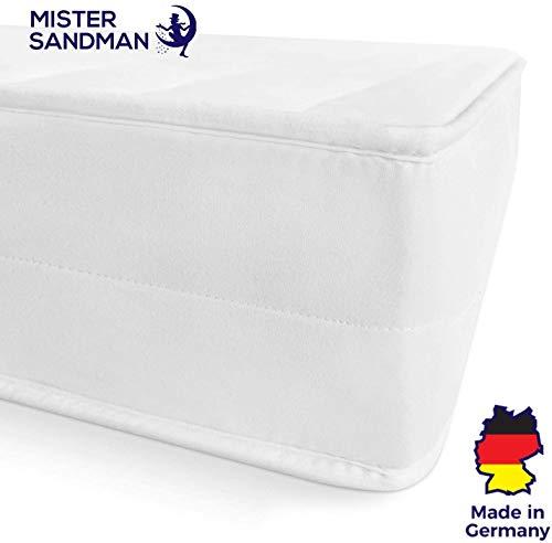Mister Sandman ergonomische 7 Zonen Matratze, H2 H3 Härtegrad 2in1, Wendbar, Kaltschaum Rollmatratze Öko Tex (90 x 200 cm, H3)