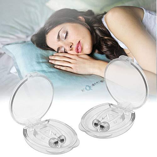 Premium Schnarchstopper - 4er Set inkl. Anti Schnarch Nasenclip Magnetischer Nasenspreizer für komfortablen Schlaf und Bessere Atmung