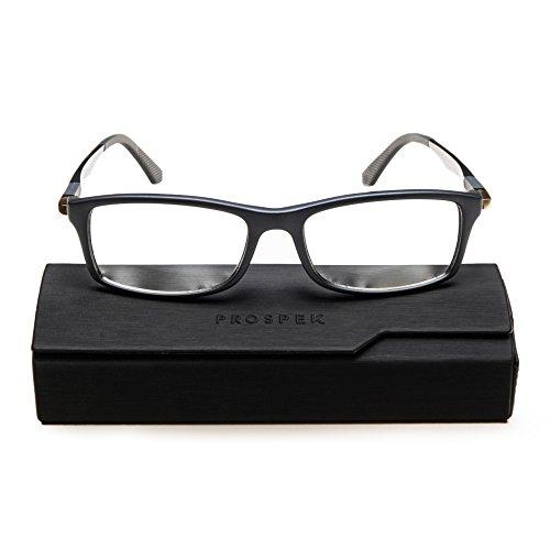 PROSPEK Hochwertige Computer Brillen Dynamic - Blaulicht- und Blendschutz (+0.00 Dioptrien | Grau | Normale)