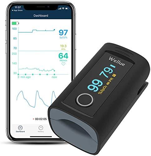 ViATOM Pulsoximeter Sauerstoffsättigung Sauerstoff-Fingermonitor für Erwachsene Sp-O2 Blutsauerstoffspiegel und Herzfrequenzmesser, inklusive Batterien und Umhängeband