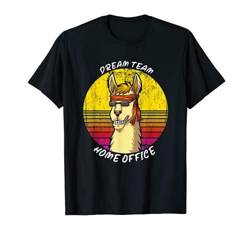 Dream Team Home Office mit Lama und Sonnenbrille Büro T-Shirt