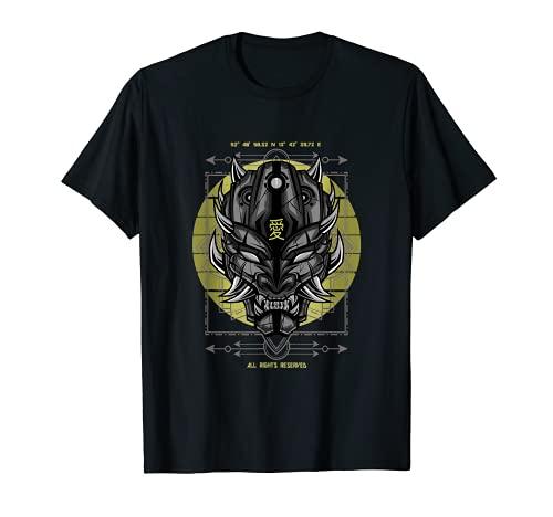 Demon Gesicht Stärke Kraft Gefahr Vintage T-Shirt