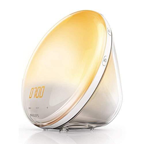 Philips HF3520/01 Wake-Up Light (Sonnenaufgangfunktion, digitales FM Radio, Tageslichtwecker) weiß