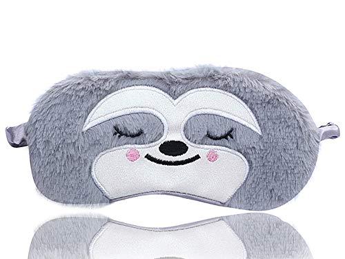 Dodheah Tier-Augenmaske, Schlafmaske, 3D-Cartoon-Augenschutz, Augenbinde, für Reisen, zum Schlafen, verstellbar, für Kinder, Mädchen und Damen Gr. One size, A-grau