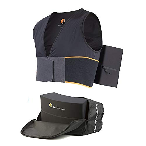Nachtwaechter Anti-Schnarch-Set - Schnarchen einfach abtrainieren - Schlafweste mit Reisetasche, schwarz, Gr. XL/XXL