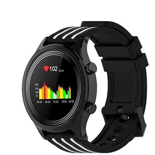 YQY Touchscreen Smart Watch für Frauen Männer, Fitness-Tracker mit Herzfrequenz-Monitor, Blut-Sauerstoffsättigung IP68 wasserdichte Mehrfachsportarten,Weiß