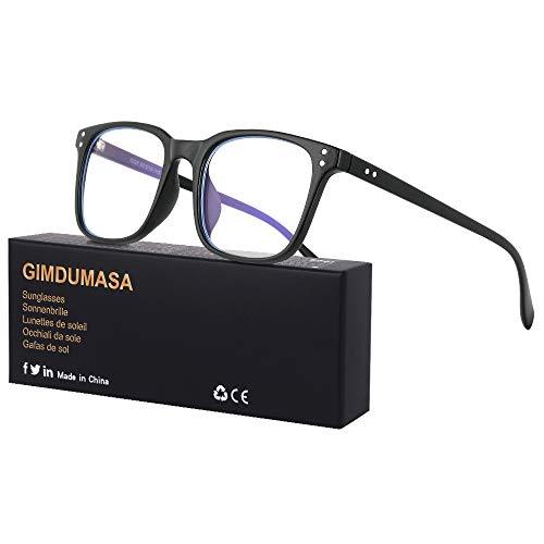 Gimdumasa Blaulichtfilter Brille Computerbrille PC Gaming Bluelight Filter Uv Blue Light Blocking Glasses Anti Damen Herren Ohne Stärke Entspiegelt