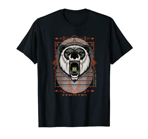 Panda Gesicht Stärke Kraft Bär Vintage Raubtier Pandabär T-Shirt