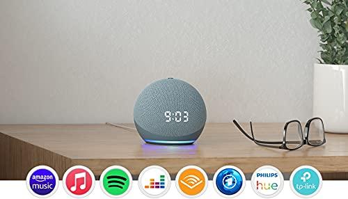 Echo Dot (4. Generation) | Smarter Lautsprecher mit Uhr und Alexa | Blaugrau*