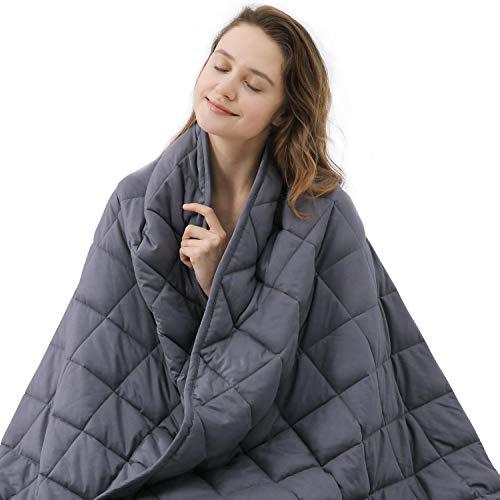 ZZZNEST Therapiedecke Anti Stress, Gewichtsdecke für Erwachsene und Kinder, Beschwerte Decke aus 100% Baumwolle, Schwere Decke für Angst und Schlafstörungen (152 x 203cm, 7.2)