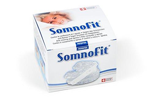 Somnofit Anti-Schnarchschiene, zweiteilige Protrusionsschiene, Mundstück, 6 verschiedene Vorschubstufen, gegen Schnarchen, Swiss Made, UKPS, bei Schnarchproblemen und leichten Apnoen, Schnarchspange