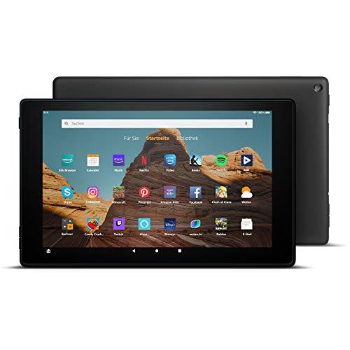 FireHD10-Tablet│10,1Zoll großes FullHD-Display (1080p), 32 GB, Schwarz, Mit Werbung