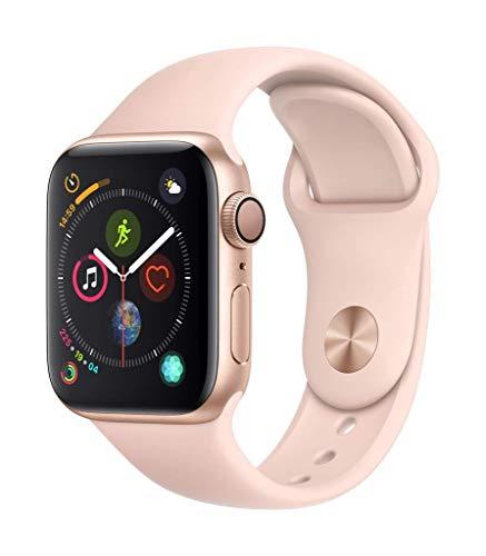 Apple Watch Series 4 40mm (GPS) - Aluminiumgehäuse Gold Sandrosa Sportarmband (Generalüberholt)