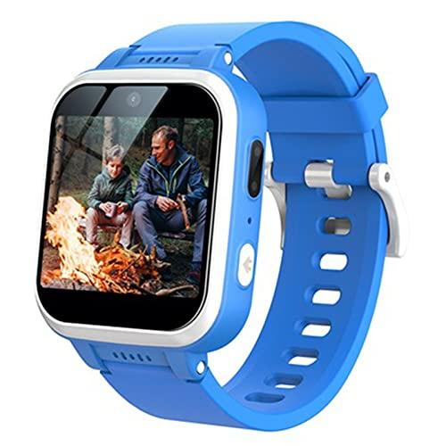 enomaa 1,54-Zoll-Smartwatch für Kinder, Kamera, Musikplayer, Spiel, Wecker, Aktivitätstracker, 14 Arten von Funktionen, männlich/Mädchen universal blau