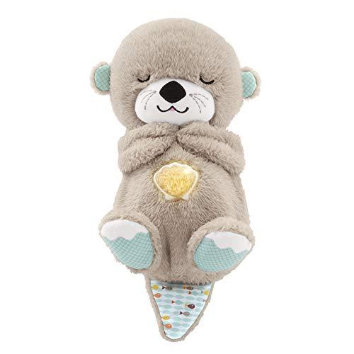 Fisher-Price FXC66 - Schlummer Otter Spieluhr aus Plüsch beruhigender Musik, Licht und Atembewegungen, Einschlafhilfe für Babys, ab der Geburt
