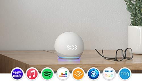 Der neue Echo Dot (4. Generation) | Smarter Lautsprecher mit Uhr und Alexa | Weiß