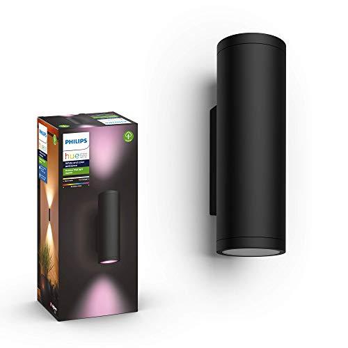 Philips Hue White & Col. Amb. LED Außenwandleuchte Appear, schwarz, bis zu 16 Mio. Farben, steuerbar via App, kompatibel mit Amazon Alexa (Echo, Echo Dot)