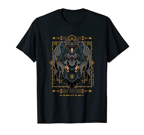 Roboter Eule Gesicht Jäger Kraft Nacht Gefahr Vintage T-Shirt