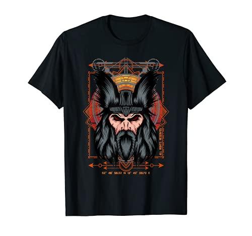Wikinger Gesicht Stärke Kraft Vintage T-Shirt