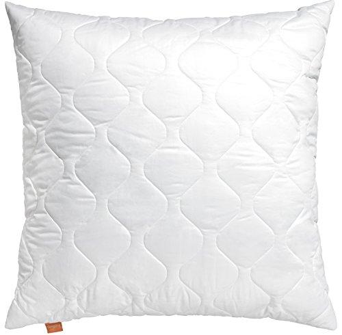 sleepling 190001 Basic 100 Kopfkissen Mikrofaser 80 x 80 cm, weiß