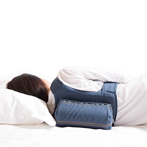 WoodyKnows 2021 Neu verbesserter Seitenschlafsack mit Allen Magic Tape Straps und verbessertem Reißverschluss, Atemhilfen für den Schlaf, lindert Schnarchen durch Rückenlage